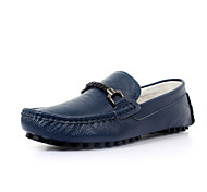Men's Shoes Office & Career/Casual Leather Loafers Black/Blue/Brown