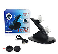PS4 Gaming Controller Charging Stand USB LED Charger Dock Station(Send A Pair Thumb Stick Grips Cap)