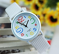 Women's Lovely Colorful Digital Leisure Quartz Belt Watch