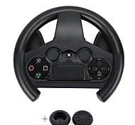Controller Steering Wheel Racing Joypad Gampad Grip Holder For PS4(Send A Pair Thumb Stick Grips Cap)