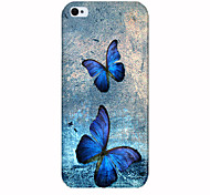 The Two Butterflies Pattern Phone Case Back Cover Case for iPhone5C
