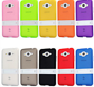For Samsung Galaxy Case with Stand Case Back Cover Case Solid Color TPU Samsung Grand Prime