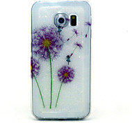 Color Dandelion Pattern Glitter TPU Cell Phone Soft Shell For Galaxy S3 /S4 /S5 /S6/ S6 edge /S3Mini /S4 Mini