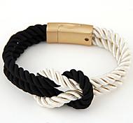 European Style Fashion Wild Braided Rope Magnet Bracelet