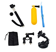 ourspop gp-K25 5-in-1 kit di accessori per GoPro eroe 4 3 + / 3/2/1 telecamera
