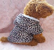 Cani Felpe con cappuccio - Inverno - Leopardo - Nero - di Materiale misto / Cotone / Terylene - XS / S / M / L