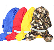 Red/Blue/Yellow Zebra Mixed Material Rain Coat For Dogs