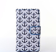 Anchor Pattern PU Leather Full Body Case with Stand for Multiple Samsung Galaxy E5/E7/J1/J5/J7