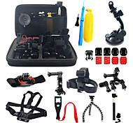 16-in-1 kit di accessori con custodia per GoPro hero4 hero3 + GoPro hero3 GoPro HERO2 telecamere azione