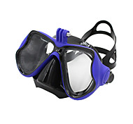 GOPRO Adult Diving Masks One-Window PVC Frame/Silicone Stripe Tempered Glass-Blue