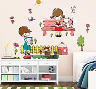 наклейки для стен стены наклейки мальчики и девочки в стиле обучения немного партнер ПВХ стены стикеры