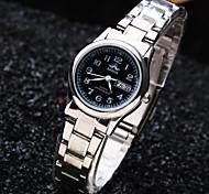 Women's Leisure Round Calendar Dial PC Movement Steel Strap Fashion Waterproof Quartz Watch Cool Watches Unique Watches