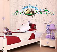 Cartoon Monkey Sleeping Tree PVC Wall Sticker Wall Decals