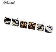 D Exceed New Fashion Leopard Square Stud Earrings for Women