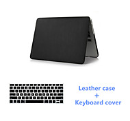 Slim Black Leather Full Body Case Cover and Keyboard Cover for Macbook Air 13.3 inch (Assorted Colors)