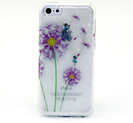 Color Dandelion  Pattern Glitter TPU Cell Phone Soft Shell For iPhone 5C