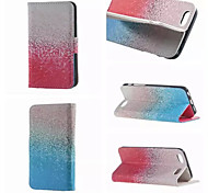 Baby Blue and Pink Pattern PU Leather Double-Sided Leather Diagram For iPhone 5/5S