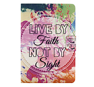 Live By Faith Not By Sight Pattern PU Leather Full Body Case for iPad mini/mini2/mini3