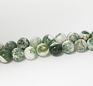 Beadia 39Cm/Str (Approx 48Pcs) Natural Tree Agate Beads 8mm Round Stone Loose Beads DIY Accessories