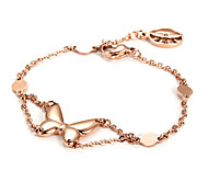Rose Gold Butterfly Stainless Steel Charm Bracelets