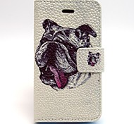 Sha Pige Pattern PU Leather Full Body Case with Card Slot and Stand for iPhone 4/4G