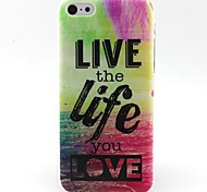 Life Pattern TPU Material Soft Phone Case for iPhone 5C