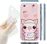 Bowknot Pig Pattern TPU Soft Back Case for iPhone 6