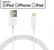Lontion IMF relámpago para USB 2.0 Cargador& cable de sincronización para iPhone5 / 5s iPhone6 ​​/ 6plus ipad aire / mini y otros