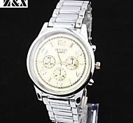 Men's  Fashion Quartz  Analog Steel Belt Wrist Watch(Assorted Colors)