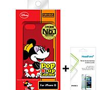 """disney minnie caso della copertura del mouse per iPhone6 4.7 """"gratuito con la protezione dello schermo headfore per iPhone6 4.7"""""""