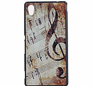 Music Pattern PC Hard Case for Sony Xperia M4 Aqua