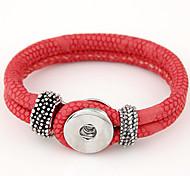 European Style Concise Fashion Double Leather Bracelet