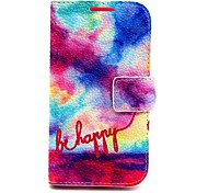 Colorful Pattern PU Case for Samsung Galaxy Core 2 G355 GALAXY CORE Prime G360 Galaxy Ace 4 G357 Galaxy Alpha G850