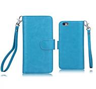 diseño especial de cuero de la PU de los casos de cuerpo completo desmontable billetera 9 tarjeta para iphone 6 (color clasificado)