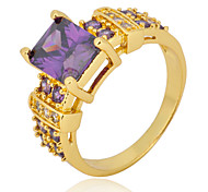 Size 10 High Quality Women Purple Sapphire Rings 10KT Yellow Gold Filled Ring