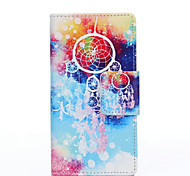 PU Painted Campanula Wallet Mobile Phone Case for Huawei P8
