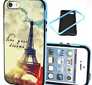 The Sunset Tower Pattern Plastic/TPU 2 in 1 Design Back Cover Case for iPhone 5/5S