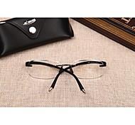 [Lentes Gratis] Hombre 's Rectángulo Sin Montura Gafas de Leer