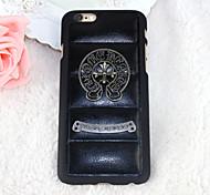 simili cuir boîtier métallique pour iPhone 6