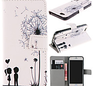 Couple Dandelion Pattern with Card Bag Full Body Case for iPhone 6