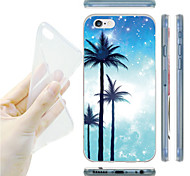 Three Palm Trees Pattern TPU Soft Back Case for iPhone 6/6S