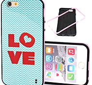 2-in-1 Heart Love Pattern TPU Back Cover with PC Bumper Shockproof Soft Case for iPhone 6