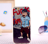 scopare uomo pittura TPU con custodia in plastica per iPhone 5 / 5s