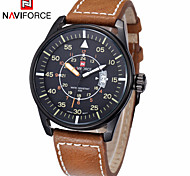 Men's Dress Watches Genuine Leather Calendar Analog Sports Wrist Watch Japan Movement(Assorted Colors)