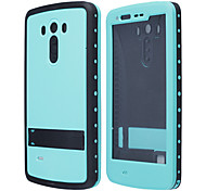Redpepper Case Ultra-thin Waterproof Case with Stand, Speaker Protector Design for LG G3 - Teal