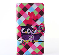 Love Owl Pattern PU Leather Full Body Case with Stand for Multiple Sony Xperia Z3/T3