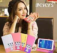 Hot//Leiers the three-dimensional cartoon leather  cover case forSamsung Tab3Lite/T110/T116/T111