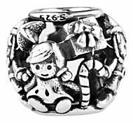 magische Welt sweet girl Silber Perlen für Armband und Halskette