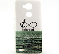 Sea Ship Anchor Pattern TPU Soft Case for Huawei Mate 7