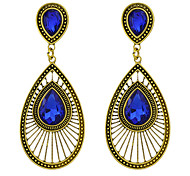 New Design Fashion Oval Rhinestone Women Drop Earrings